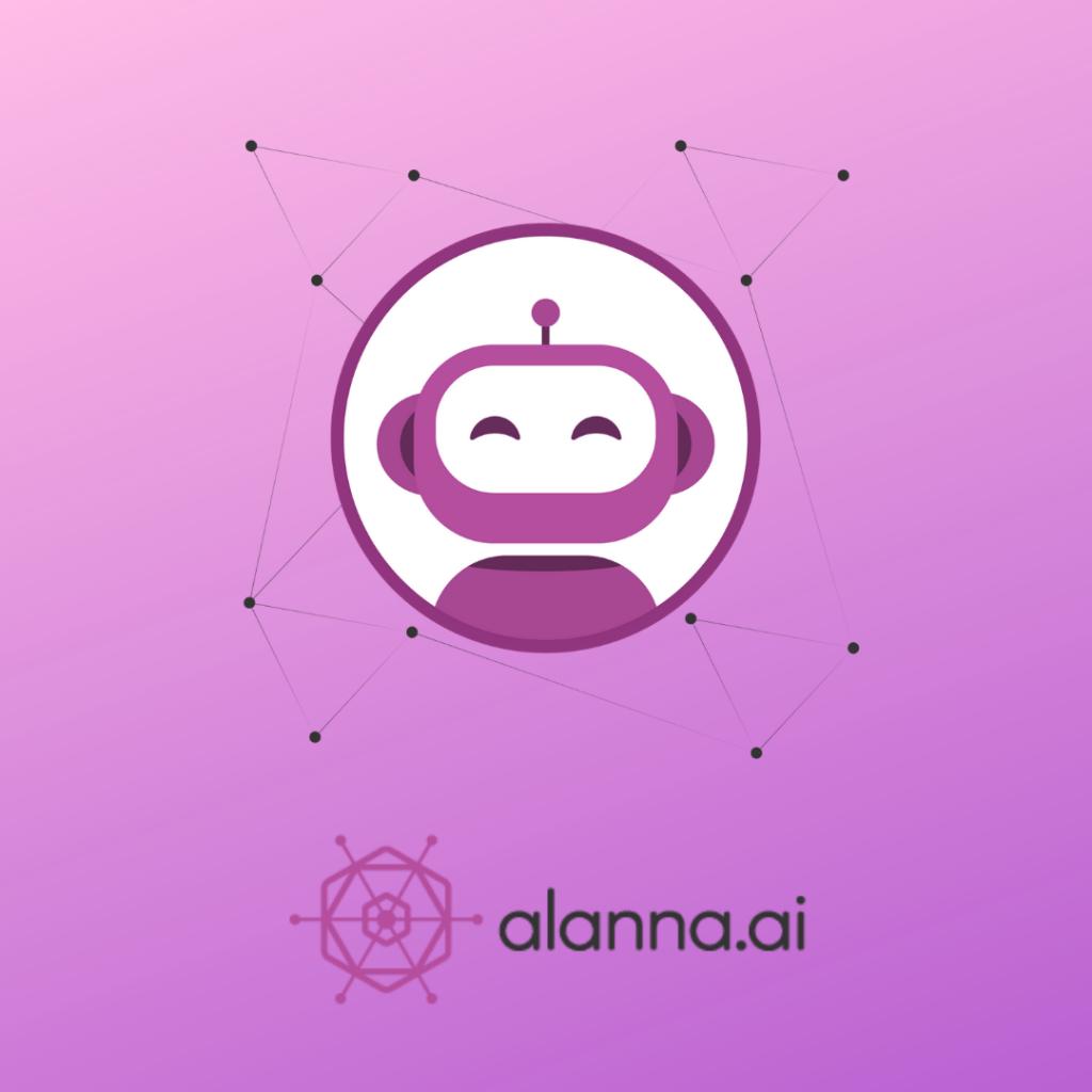 alanna.ai logo on pink background